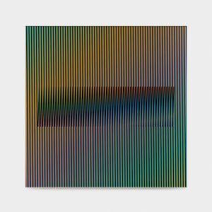 Induction Chromatique à double fréquence RVB 7 by Carlos Cruz-Diez contemporary artwork mixed media