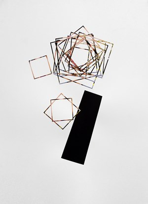 Topple the square with by Justine Khamara contemporary artwork