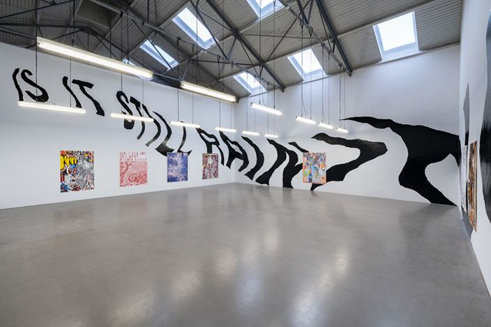 Martin Gross,Inside a Screensaver,2021, Exhibition view, Galerie EIGEN + ART Leipzig, photo: dotgain.info