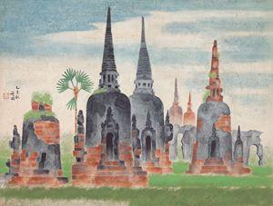 Ayutthaya Ruins by Kuo Hsueh Hu contemporary artwork