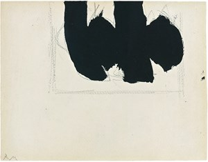 Open with Elegy by Robert Motherwell contemporary artwork
