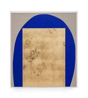 Hair orchid sweat print, blue with grey by Pierre Vermeulen contemporary artwork painting, sculpture