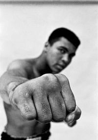 Ali right fist, London, 1966 by Thomas Hoepker contemporary artwork photography