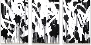 FLOWERS (triptych) by Bisco Smith contemporary artwork