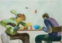 Every Day When I Eat Wontons by Zhai Liang contemporary artwork painting