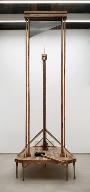 High - Striking - Guillotine by Aaron Bezzina contemporary artwork