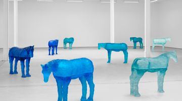 Contemporary art exhibition, Ugo Rondinone, a sky . a sea . distant mountains . horses . spring . at Sadie Coles HQ, Kingly Street, London