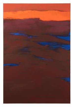 La montagne veillant la mer by Christine Safa contemporary artwork