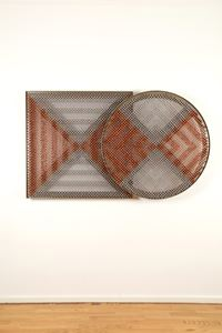 Sonic Rotating Binovular Geometric Twins – Copper and Silver #6 by Haegue Yang contemporary artwork sculpture, mixed media