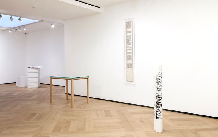 Exhibition view: Group Exhibition,MORE THAN WORDS..., Mazzoleni, London (23 February–18 May 2018). Courtesy Mazzoleni London Torino.