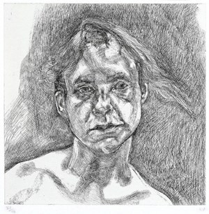 Head of a naked girl / 46 by Lucian Freud contemporary artwork