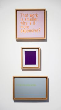 Untitled: Why is it More Expensive? Triptych by David Boyce contemporary artwork painting