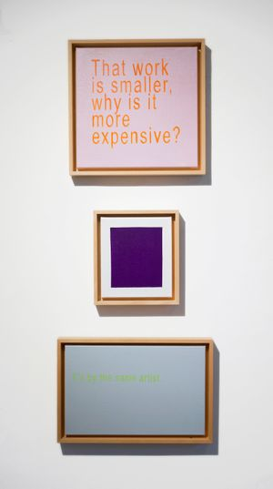 Untitled: Why is it More Expensive? Triptych by David Boyce contemporary artwork