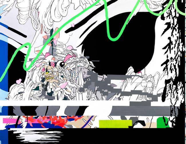 Black eyes by Zhong Wei contemporary artwork