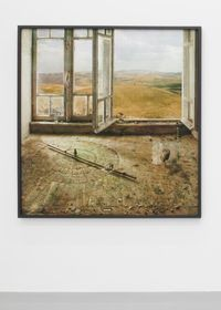 Cypress Day by Yuval Yairi contemporary artwork print