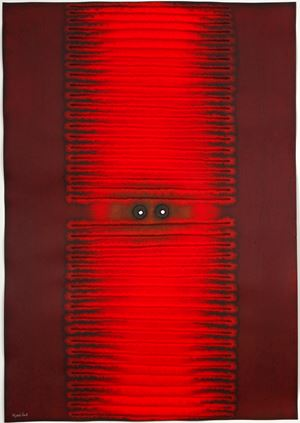 Amisha III by Sohan Qadri contemporary artwork painting, works on paper