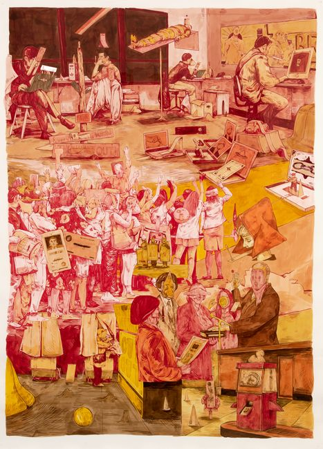 Scenery in Red, Yellow, Orange by William Buchina contemporary artwork