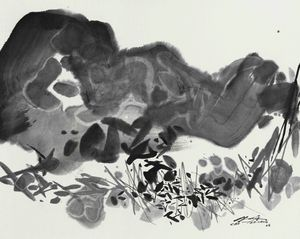 B/W Composition 4 by Chu Teh-Chun contemporary artwork painting, works on paper, drawing