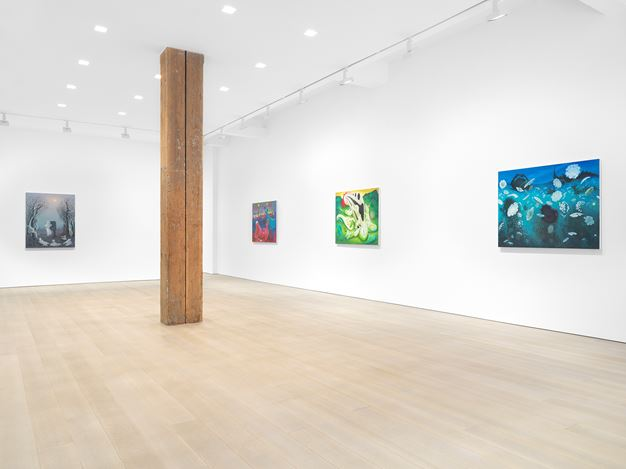 Exhibition view: Inka Essenhigh, Miles McEnery Gallery, 525 West 22nd Street, New York (15 October–14 November 2020). Courtesy Miles McEnery Gallery.