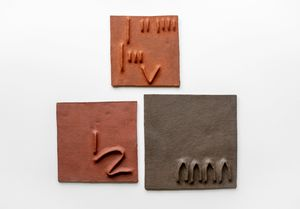 Pidgin Tiles Set 2 by Pyda Nyariri contemporary artwork sculpture