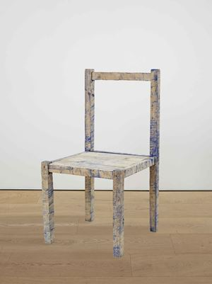 Blue Chair by Bob Law contemporary artwork