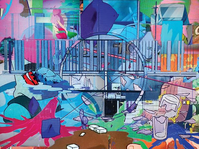 TV Accidents (Purple Dream) by Chihiro Mori & Teppei Kaneuji contemporary artwork
