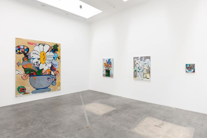 Exhibition view: Eddie Martinez,Green Thumb,Blum & Poe, Los Angeles (15 May–26 June 2021).© Eddie Martinez. Courtesythe artist, Blum & Poe, Los Angeles/New York/Tokyo. Photo: Jenalee Harmon.