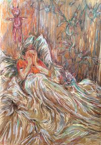 Nightmares by Ulrike Theusner contemporary artwork painting, works on paper, drawing