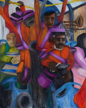 Delhi Bus by Aban Raza contemporary artwork