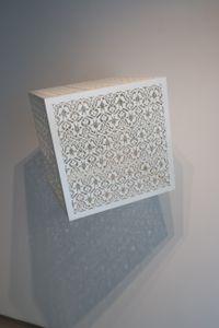 Itinerant Shadows - White (Arches) by Anila Quayyum Agha contemporary artwork sculpture