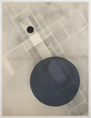 Blue Disc collage by László Moholy-Nagy contemporary artwork
