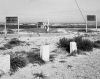 Racially Segregated beach areas and the boundary between them. Strand, Western Cape. 16 April 1983 by David Goldblatt contemporary artwork photography