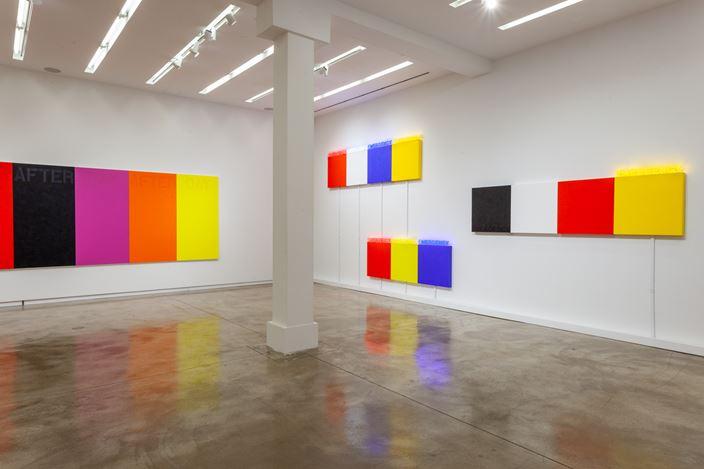 Exhibition view: Deborah Kass, Painting and Sculpture, Elizabeth St, Chicago (10 September 2020–22 May 2021). Courtesy Kavi Gupta.