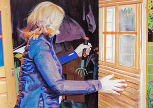 Dorli Fetches a Garden Cultivator, Community Garden 'Zaunkönig' by Anita Fricek contemporary artwork