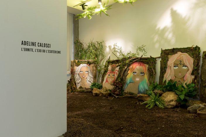Exhibition view: Adeline Calosci,L'Ermite, l'exo ou l'ésotérisme,A2Z Art Gallery, Paris (26 June–17 July 2021). CourtesyA2Z Art Gallery.