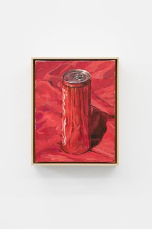 Coca-Cola On The Red Cloth by Ge Yulu contemporary artwork painting, sculpture