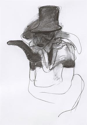 "Study for ""Mr Turner"" by Adrian Ghenie contemporary artwork"