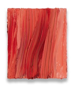 Untitled (Brilliant pink / Ruby lake) by Jason Martin contemporary artwork