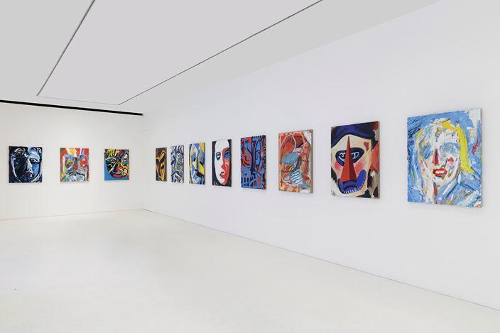 Exhibition view: Spencer Sweeney, Queue, Gagosian, Davies Street, London (22 February–1 May 2021). © Spencer Sweeney. Courtesy Gagosian.Photo: Lucy Dawkins.