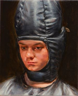 Conehead by Michaël Borremans contemporary artwork