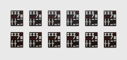Hong Kong Dominoes: 1-12 by Sherrie Levine contemporary artwork 2