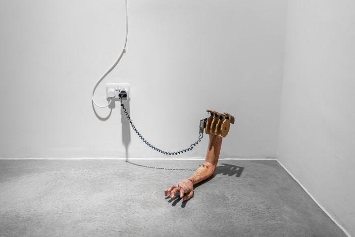 Exhibition view: Tobias Bradford, Stage Fright, Huxley-Parlour, London (18 May–3 July). Courtesy Huxley-Parlour.