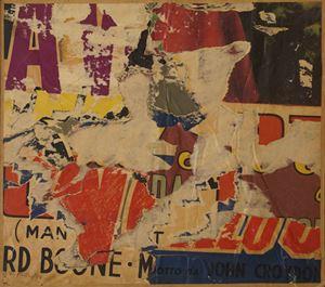Un pezzo da film by Mimmo Rotella contemporary artwork