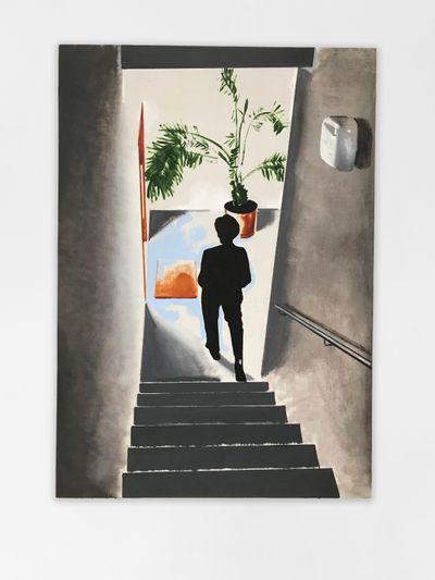 Wilhelm Sasnal, Leaving Kacper (2020). Oil on canvas, 100 x 70 cm. © Wilhelm Sasnal.
