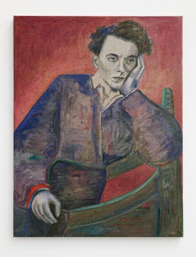 Jill Mulleady, Hamlet (2021). Oil on canvas. 65 x 50 cm.