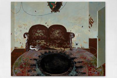 Mohammed Sami, Infection I (2019). Acrylic on linen. 225 x 285 cm. © Mohammed Sami.