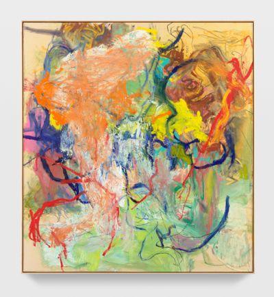 Rita Ackermann, Mama, East of Cairo (2021). Oil, acrylic and china marker on canvas. 188 x 172.7 cm. © Rita Ackermann.