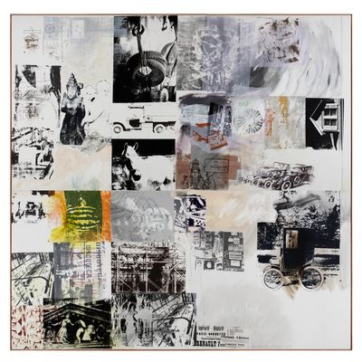 Robert Rauschenberg, Rollings (Salvage) (1984). Acrylic, collage and graphite on canvas. 386.1 x 395 cm.