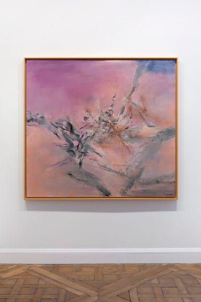 Zao Wou-Ki, 07.04.2004 (2004). Oil on canvas. 150 x 162 cm. © ADAGP Zao Wou-Ki Photo archives, kamel mennour.