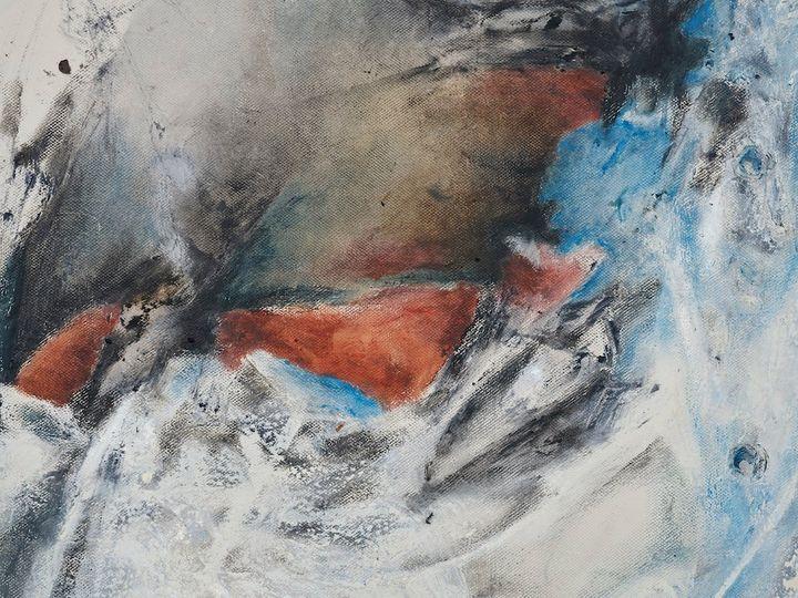Christine Ay Tjoe, Blue Cryptobiosis #12 (2021) (detail). Oil on canvas. 100 x 80 cm. Courtesy the artist. Photo: White Cube (Kitmin Lee).